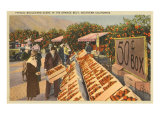 Fruit Stand, California Prints