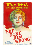 She Done Him Wrong, Mae West, 1933 Foto