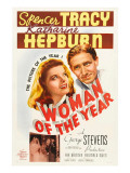 Woman of the Year, (Poster Art), Katharine Hepburn, Spencer Tracy, 1942 Photo