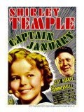 Captain January, Shirley Temple, Guy Kibbee on Midget Window Card, 1936 Print