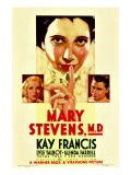 Mary Stevens, M.D., Glenda Farrell, Kay Francis, Lyle Talbot on Midget Window Card, 1933 Posters