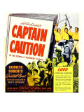 Captain Caution, Window Card, 1940 Prints