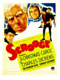Scrooge, Second from Left: Seymour Hicks on Midget Window Card, 1935 Photo