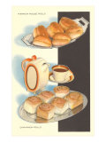 Parker House Rolls, Cinnamon Buns Prints