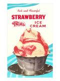Strawberry Twirl Ice Cream Posters