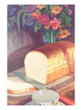 Still Life with Bouquet and White Bread Art