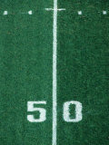 50 Yard Line American Football Photographic Print by Steven Sutton