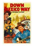 Down Mexico Way, Smiley Burnette, Fay Mckenzie, Gene Autry, 1941 Photo