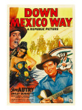 Down Mexico Way, Smiley Burnette, Fay Mckenzie, Gene Autry, 1941 Poster