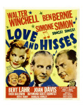 Love and Hisses, Simone Simon, Walter Winchell, Ben Bernie, 1937 Posters