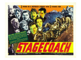 Stagecoach, Donald Meek, Thomas Mitchell, George Bancroft, 1939 Prints