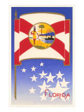 Flag of Florida Premium Giclee Print