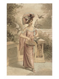 French Fashion, Woman with Doves Posters