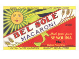 Bel Sole Macaroni Label Affiches