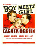 Boy Meets Girl, James Cagney, Marie Wilson, Pat O'Brien, 1938 Prints