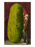 Man with Giant Watermelon Prints