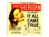 It All Came True, Ann Sheridan on Window Card, 1940 Poster