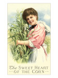 Sweet Heart of the Corn, Old-Fashioned Girl in Field Posters