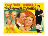 The Baroness and the Butler, 1938 Poster