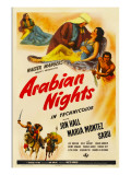 Arabian Nights, 1942, Poster Art Photo