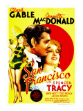 San Francisco, Jeanette Macdonald, Clark Gable, Jeanette Macdonald on Midget Window Card, 1936 Print