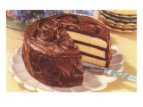 Cake with Chocolate Frosting Prints