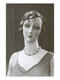 Twenties Female Mannequin with Moue Pósters