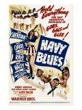 Navy Blues, Ann Sheridan, Jack Haley, Jack Oakie, Martha Raye on Midget Window Card, 1941 Foto