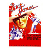 Buck Jones on Stock Window Card, 1936 Print