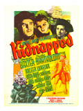 Kidnapped, Warner Baxter, Arleen Whelan, Freddie Bartholomew on Midget Window Card, 1938 Photo