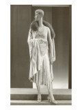 Twenties Mannequin with Evening Gown and Fur Collar Art