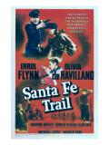Santa Fe Trail, Errol Flynn, 1940 Posters