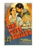 Fire over England, Flora Robson, Laurence Olivier, 1937, Poster Art Photo
