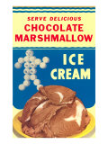 Chocolate Marshmallow Ice Cream Prints