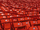 Empty Stadium Seats Photographic Print