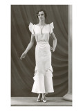 Twenties Mannequin with Butterfly Sleeves Posters