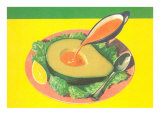 Avocado with French Dressing Poster