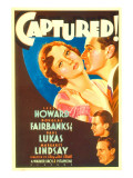 Captured, Margaret Lindsay, Leslie Howard, 1933 Posters
