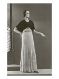 Twenties Mannequin with Velvet Shrug Poster