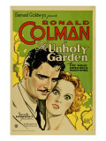 The Unholy Garden, Ronald Colman, Fay Wray, 1931 Lminas