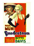 Bordertown, Paul Muni, Bette Davis on Midget Window Card, 1935 Photo