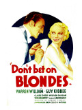 Don&#39;T Bet on Blondes, Warren William, Claire Dodd on Midget Window Card, 1935 Affiches