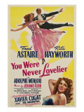You Were Never Lovelier, Rita Hayworth, Fred Astaire, 1942 Print