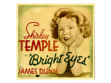 Bright Eyes, Shirley Temple on Jumbo Window Card, 1934 Poster