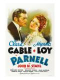 Parnell , Clark Gable, Myrna Loy, 1937 Print