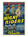 The Night Riders, Max Terhune, Ray Corrigan, John Wayne, Movie Poster Art, 1939 Photo