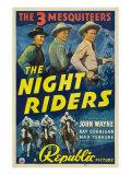 The Night Riders, Max Terhune, Ray Corrigan, John Wayne, Movie Poster Art, 1939 Photo