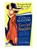 Social Register, Colleen Moore on Midget Window Card, 1934 Print