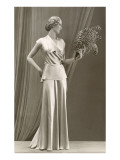 Twenties Mannequin with Feathers Art
