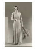 Twenties Female Mannequin with Feathers Print